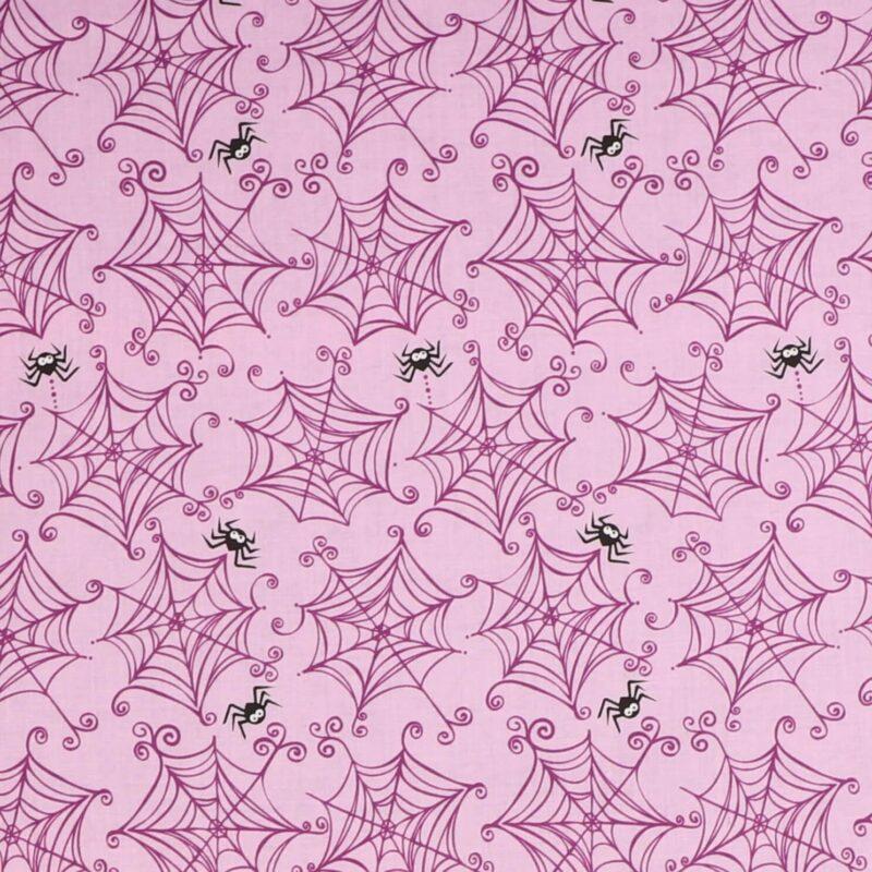 Patchwork - Edderkoppespind på lilla -