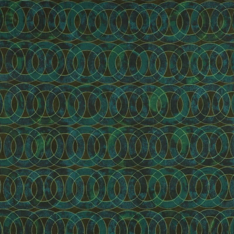 Patchwork - Petrol/grøn/oliven -