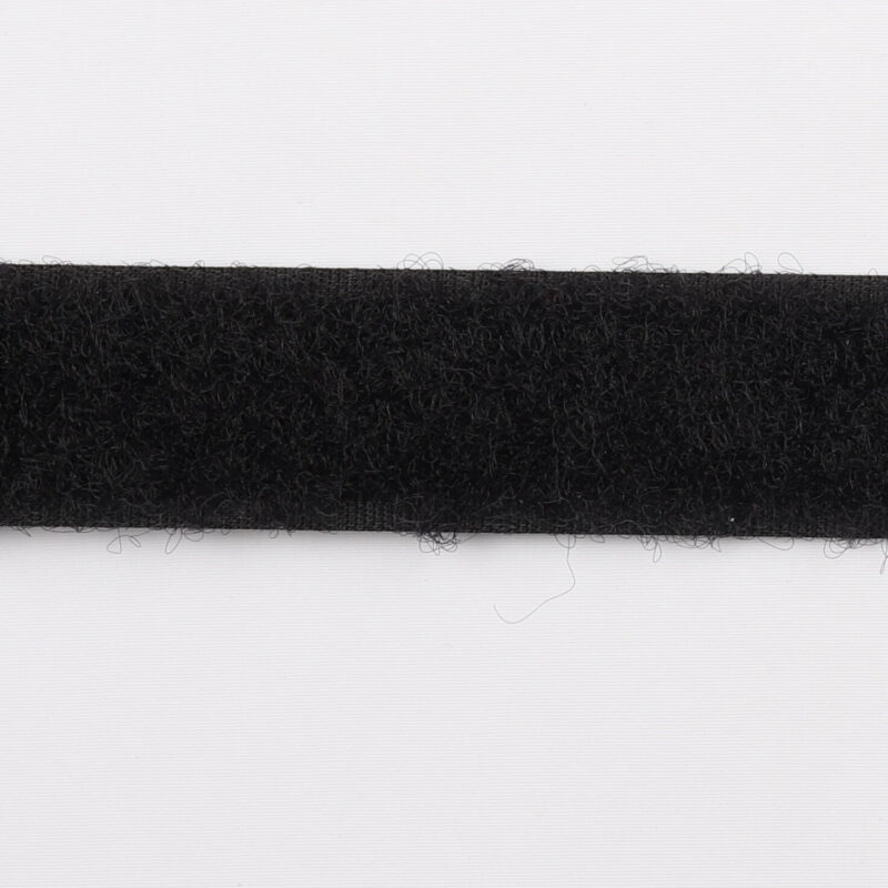 Sort - gribebånd 20 mm, loop -