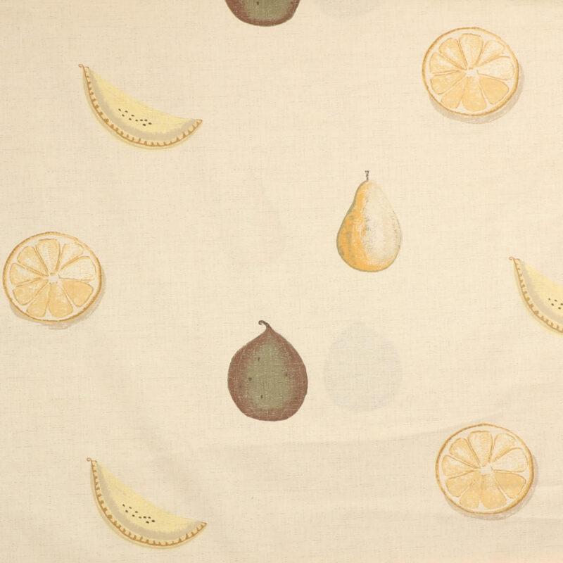Lys beige m. frugter - Boligtekstil -