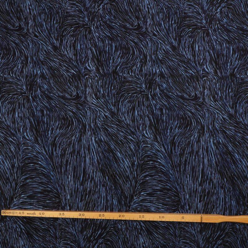 Mønster i blå nuancer - Viskose -