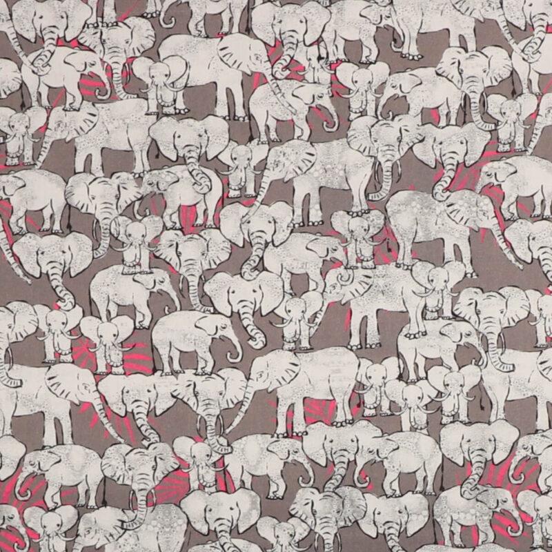 Elefanter på grå - Patchwork -