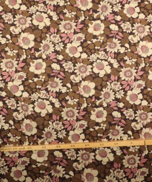 Blomster - Twill m. stretch -