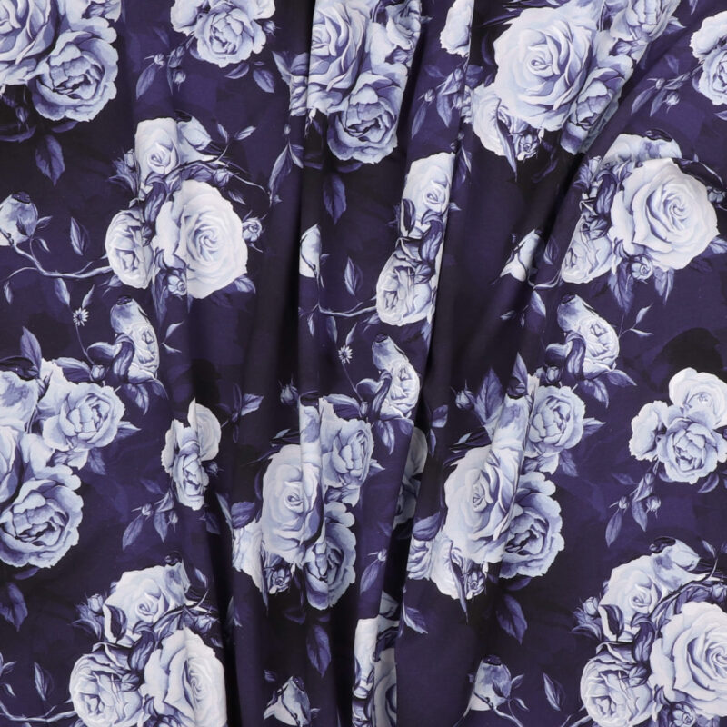 Roser på blå - Jersey -