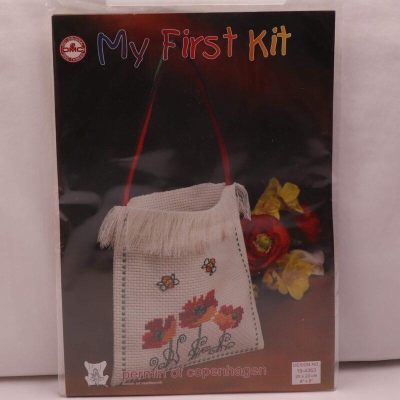 My first kit (taske) - Blomster 20x20 cm -