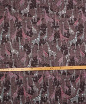 Giraffer på brun - Patchwork -