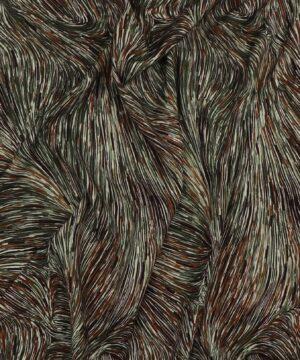 Mønster i grøn/brun - Viskose -