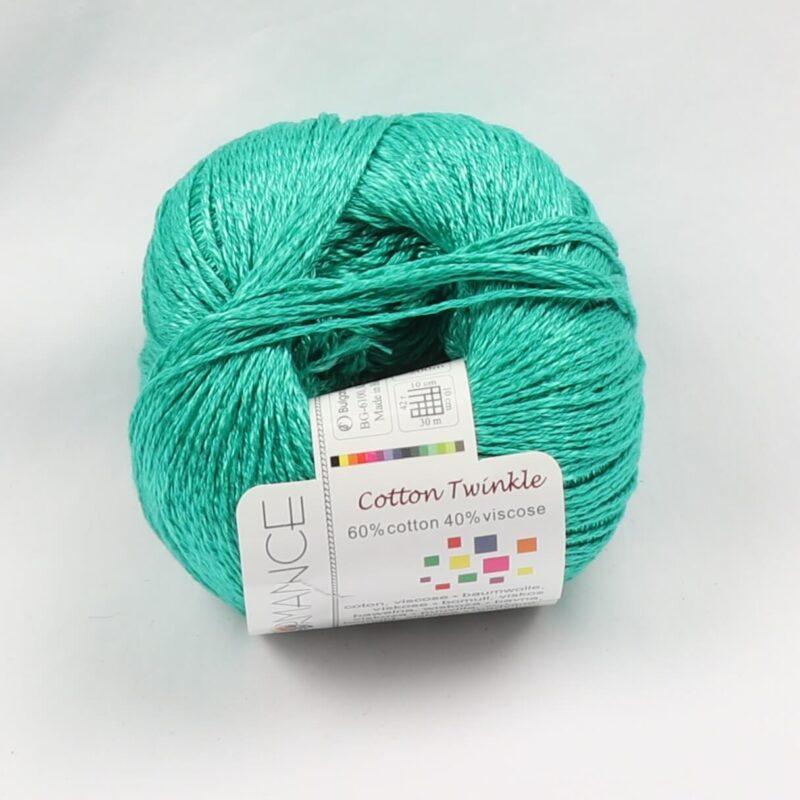 Cotton Twinkle, Bomuld/viskose - Jade fv 141 -