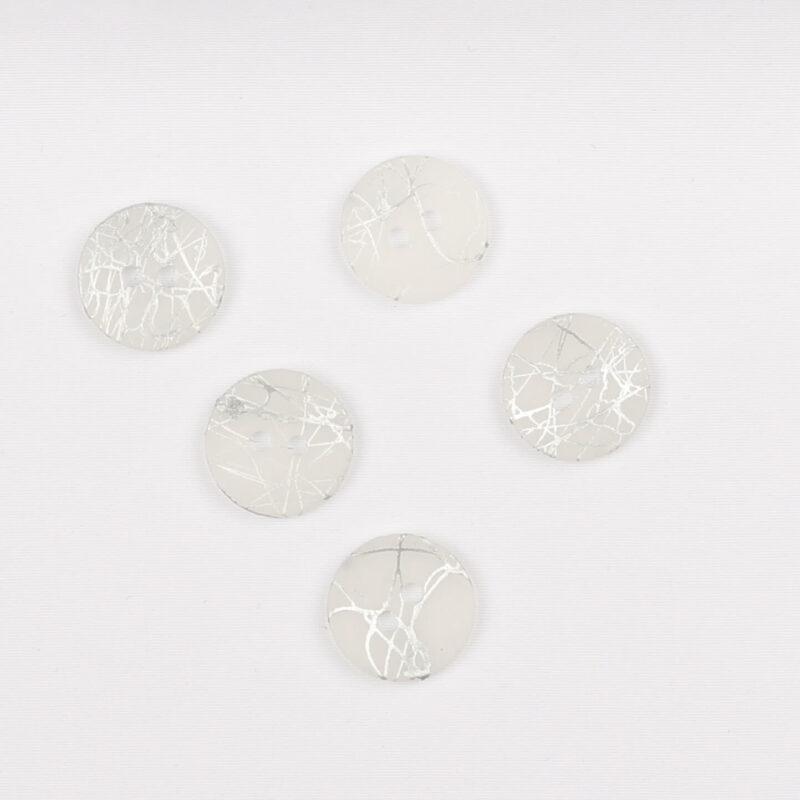 Knap m. sølvstænk - 13 mm -
