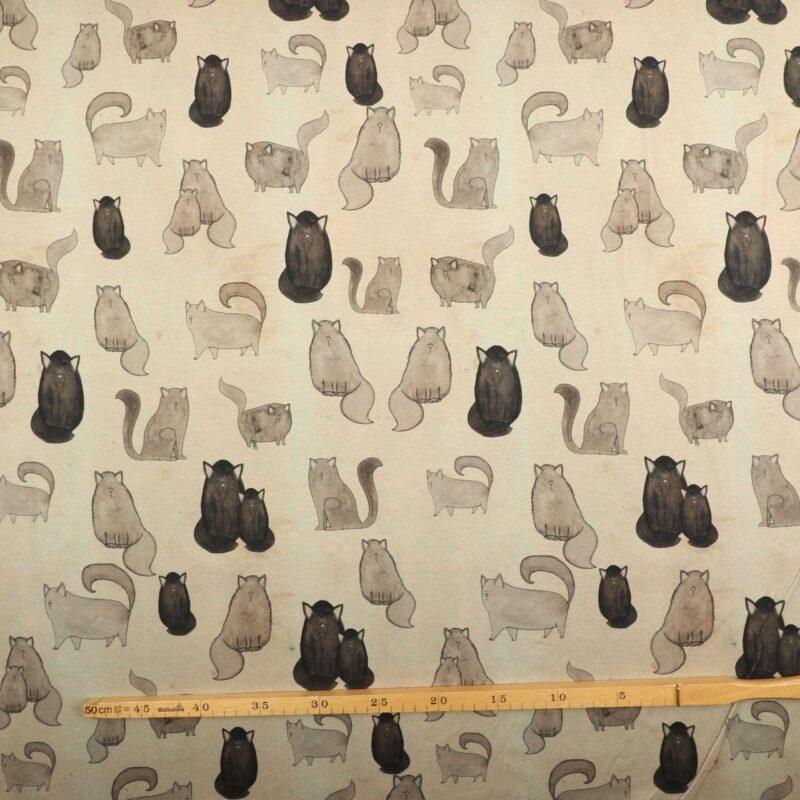 Katte i grå nuancer - Jersey (Gots certificeret) -