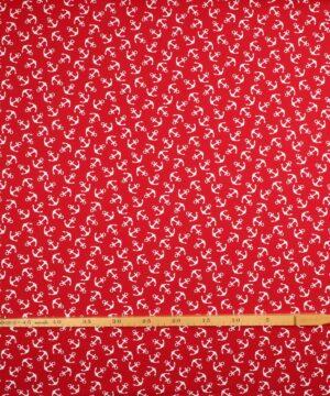 Hvide ankre på rød - Jersey -
