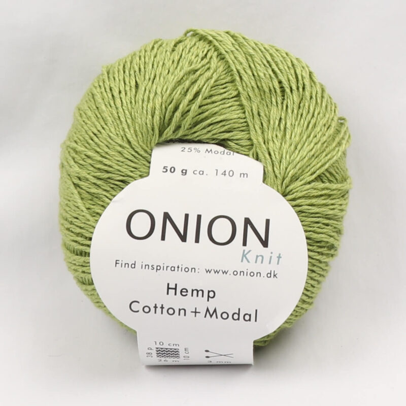 Onion Garn, Hamp/bomuld/modal - Lime fv. 419 -