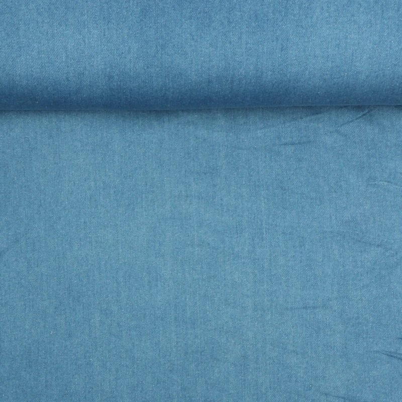 Denim, blå m. stretch -