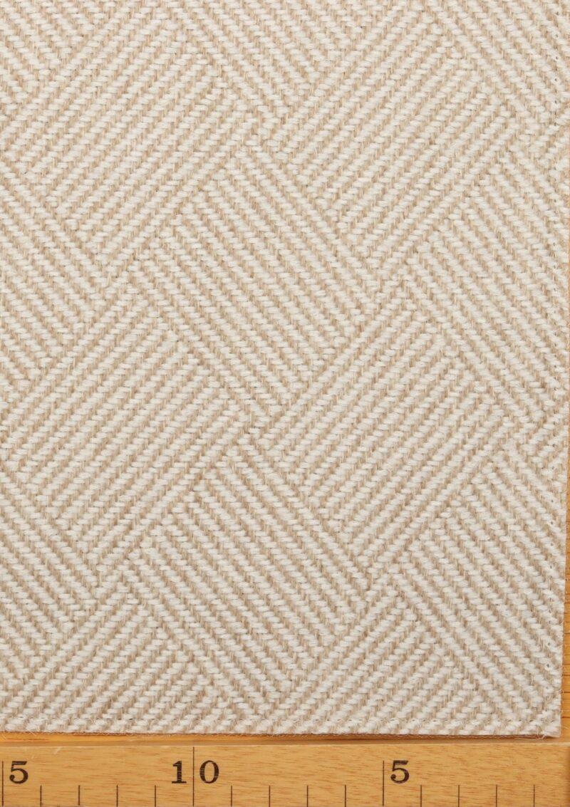 Creme/beige møbelstof - Uld/polyester -