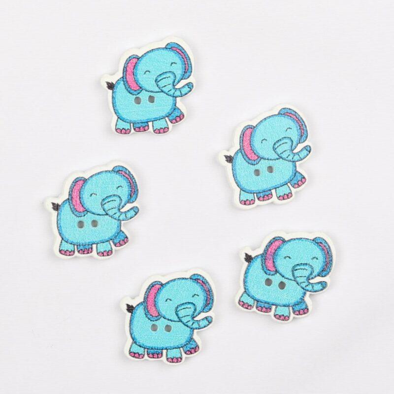 Elefant, turkis 20 mm -