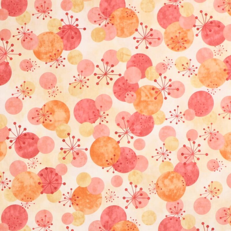 Meleret gul bund m. cirkler - Patchwork -