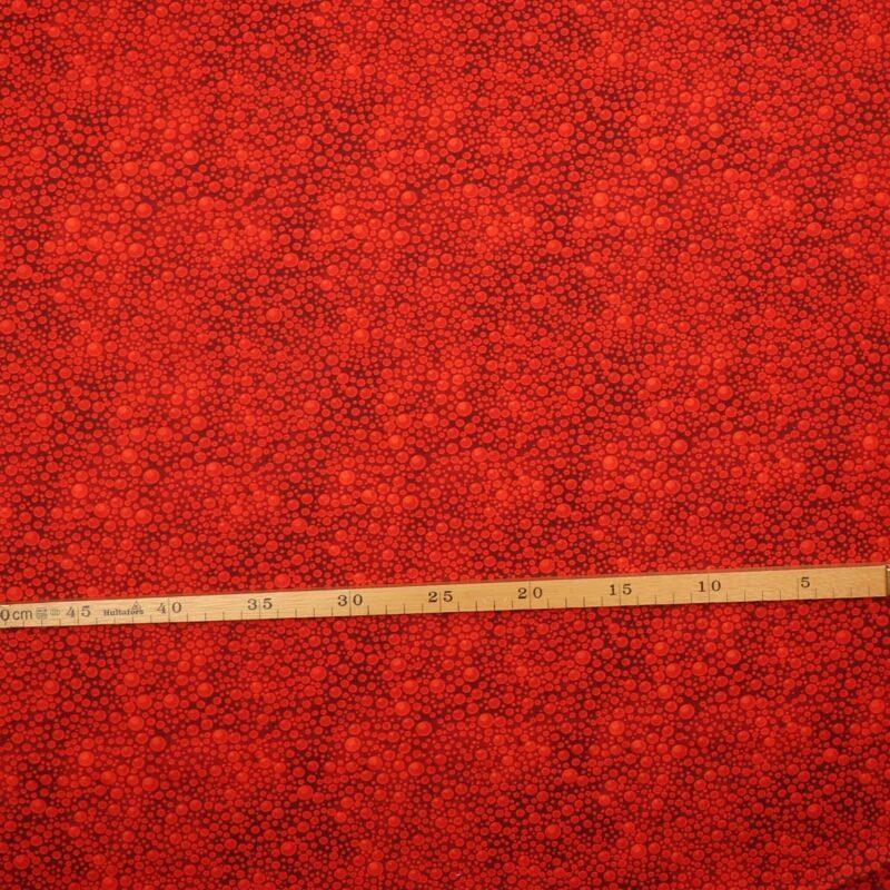 Boblemønster i rød - Patchwork -
