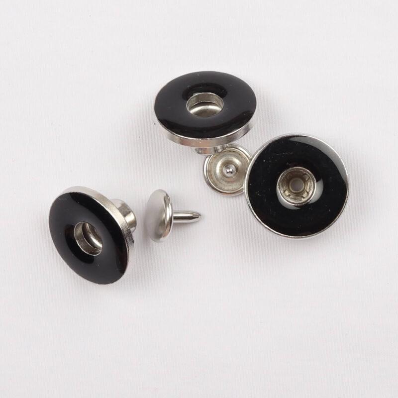 Patentknapper 18 mm, sort (10 stk) -
