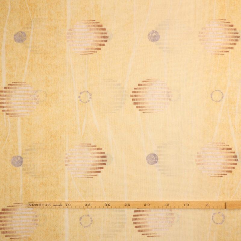 Gul med cirkelmønster -