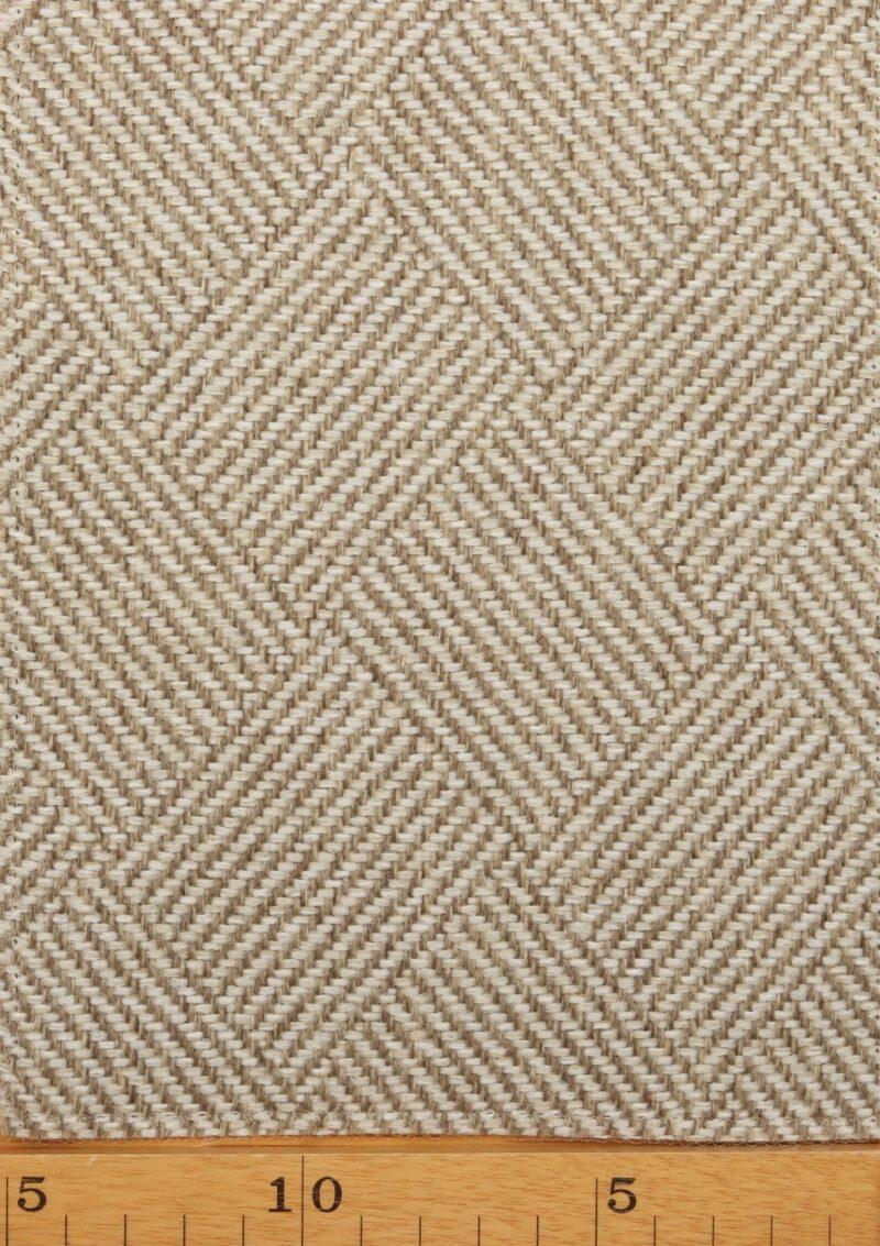 Natur/lys brun møbelstof - Uld/polyester -