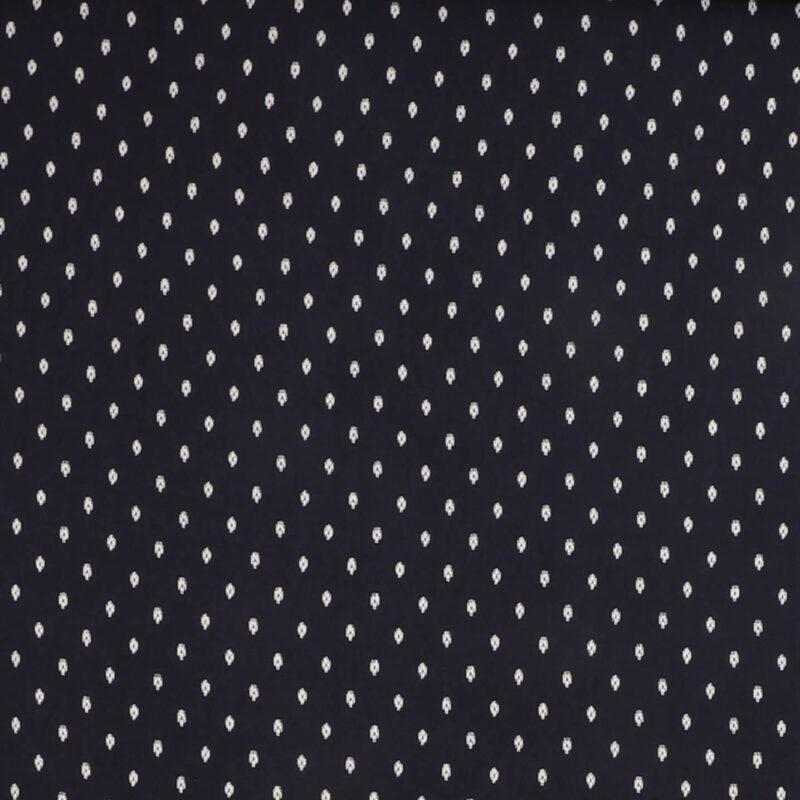 Marineblå m. hvidt mønster - Viskose -