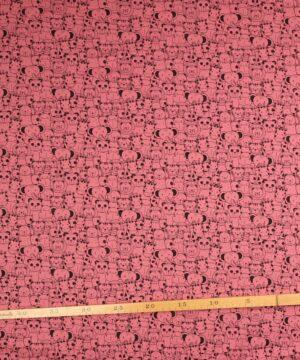 Søde dyr på rosa bundfarve - Jersey -