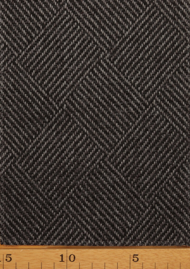Koksgrå/grå møbelstof - Uld/polyester -