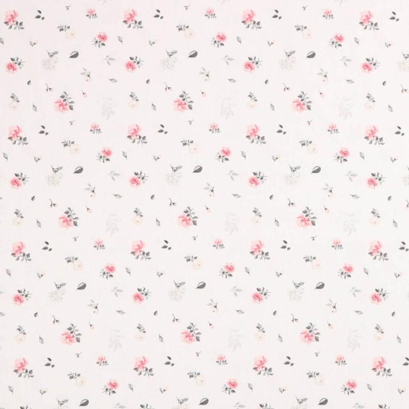 Sudbina, hvid m. små blomster - Let bomuld -