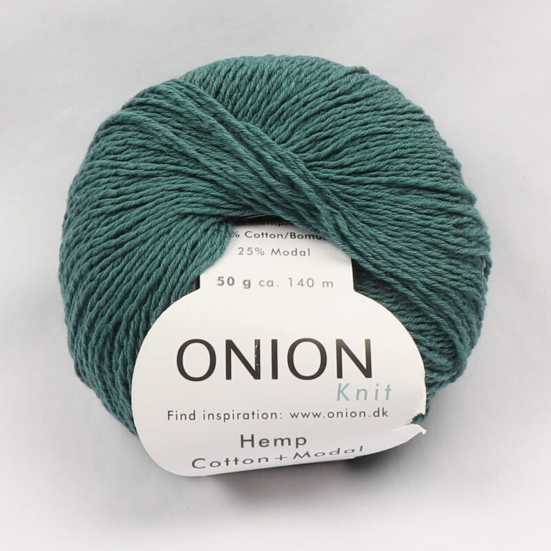 Onion Garn, Hamp/bomuld/modal - Petrolgrøn fv. 422 -