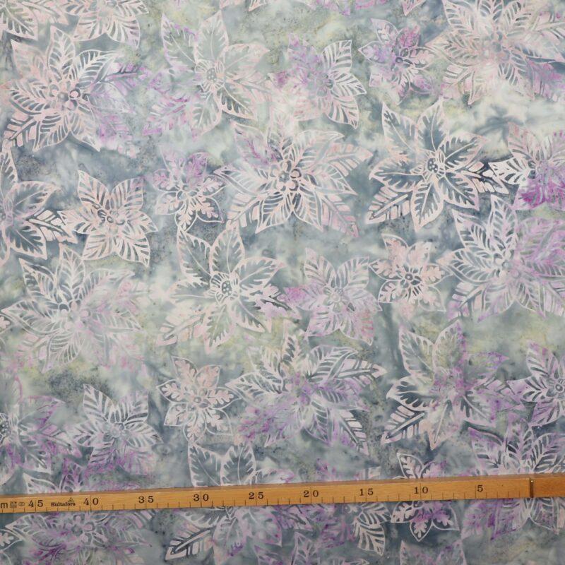 Blågrå m. blomster - Bali -