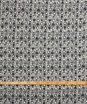Marineblå/hvidt mønster - Viskose -