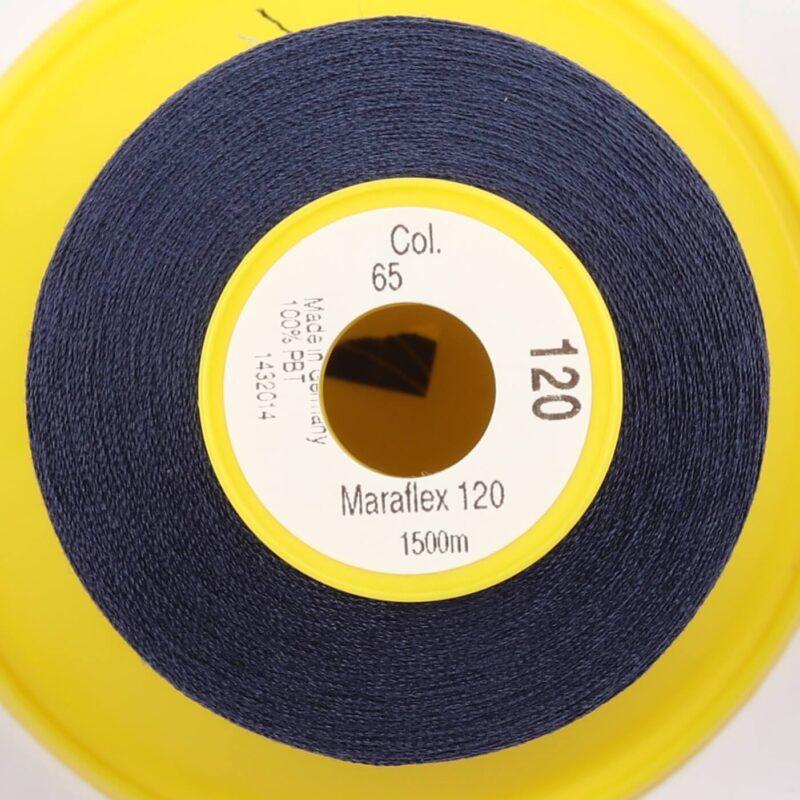 Maraflex 120 fra Gütermann, elastisk tråd - Marineblå -