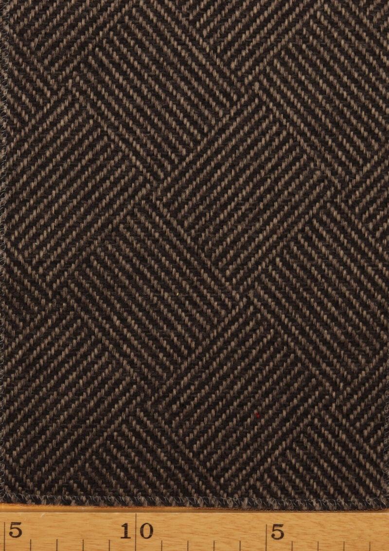 Brun/lysebrun møbelstof - Uld/polyester -