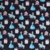Sneprinsesser på marineblå - French Terry -