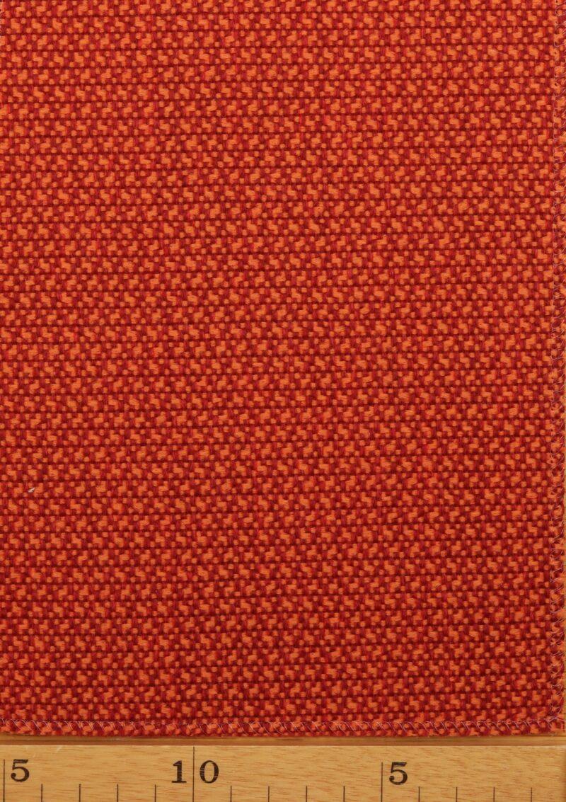 Tegl/orange møbelstof - Uld/polyester -