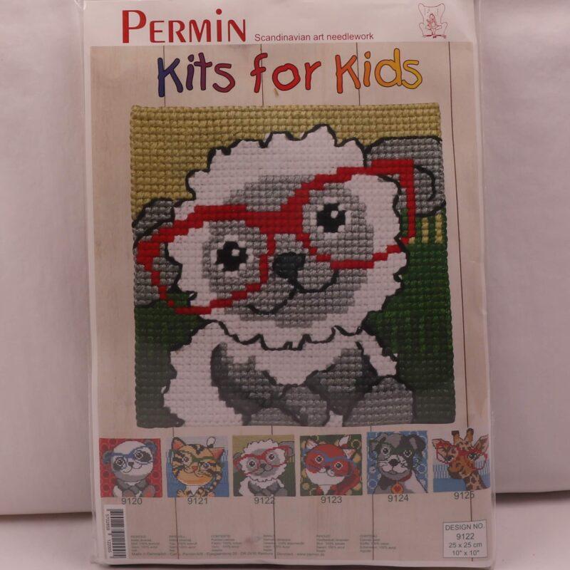 Kits for kids (malet stramaj) - Lam m. briller 25x25 cm -
