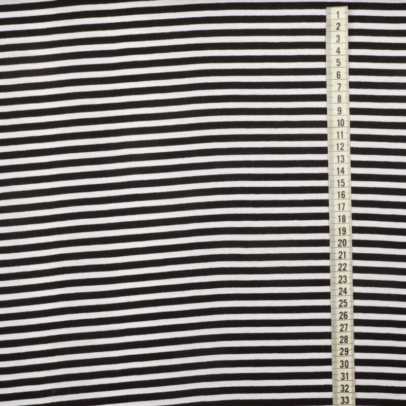 Striber sort/hvid- Rib -