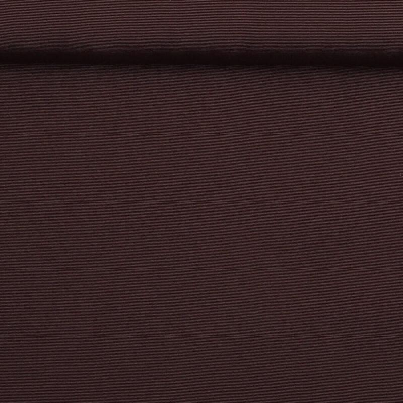 Mørk brun (let rillet) - Bomuld/polyester -