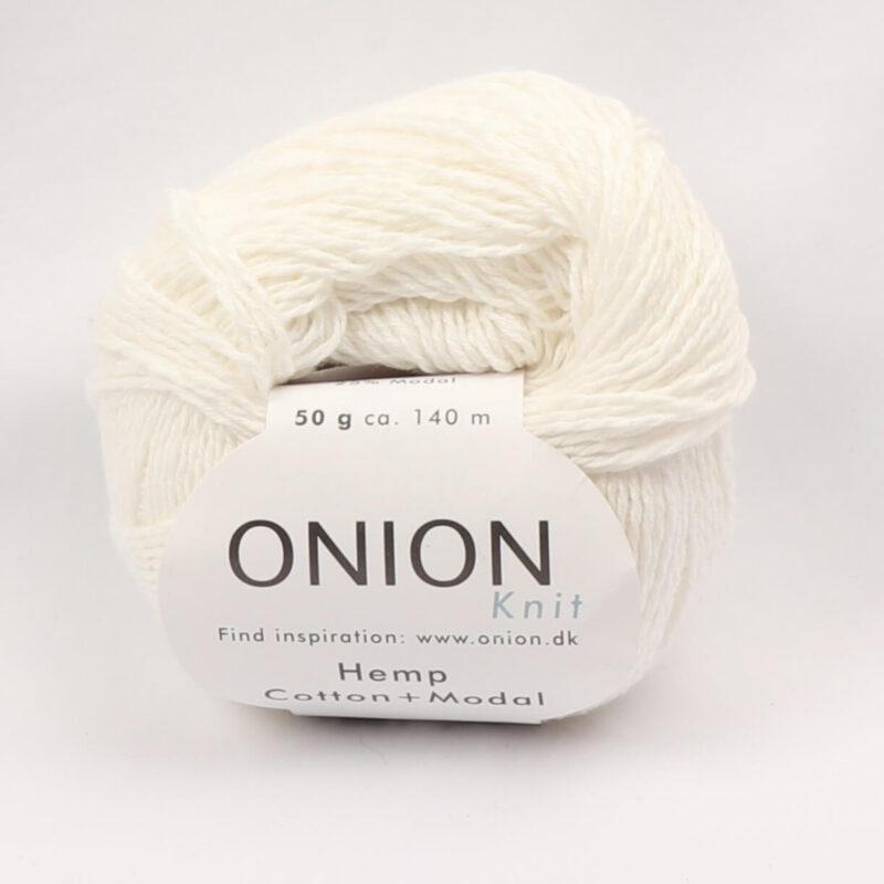 Onion Garn, Hamp/bomuld/modal - Hvid fv. 401 - Info mangler