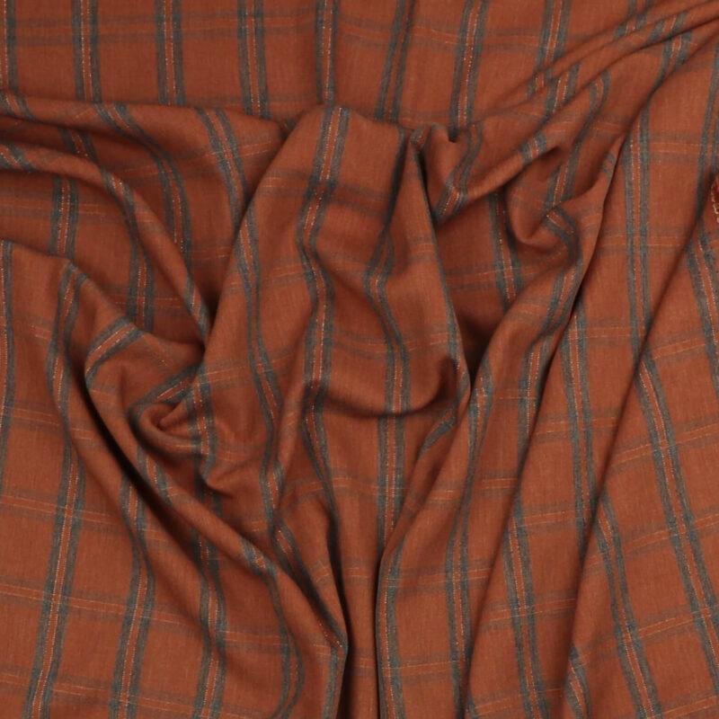 Tern i rust/grå - Viskose/lidt polyester -