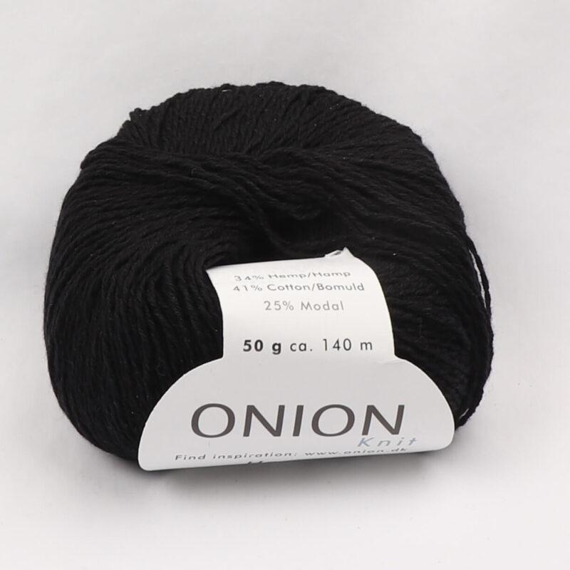 Onion Garn, Hamp/bomuld/modal - Sort fv. 412 -
