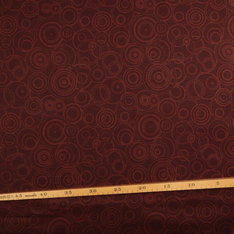 Patchwork - Brune cirkler på mørkebrun -