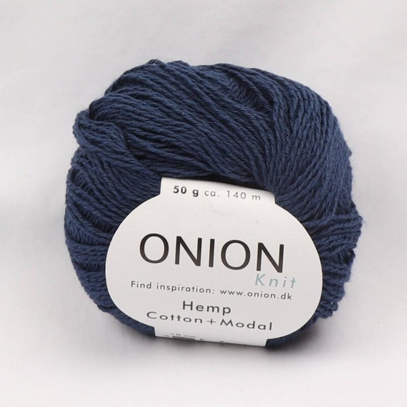 Onion Garn, Hamp/bomuld/modal - Marine fv. 402 -