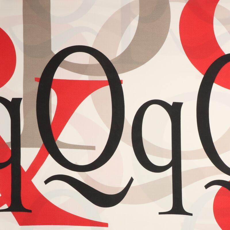 Store bogstaver på hvid - Bade/bruseforhæng -