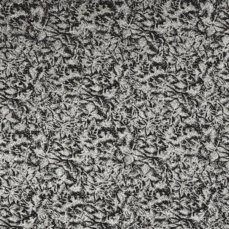 Glimmer, sort med sølv - Patchwork -