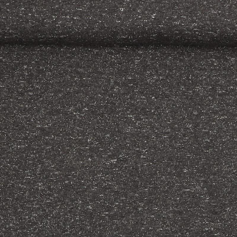 Rib med glimmer - Grå m. sølv -