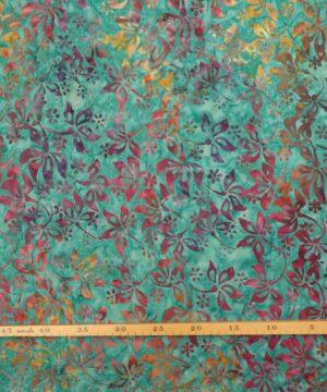 Aquagrøn m. farvet mønster - Bali -