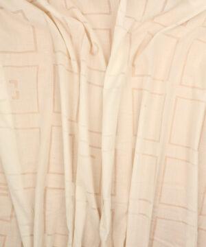 Offwhite m. transparent mønster -
