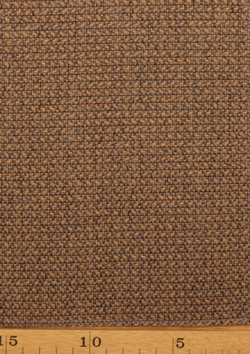 Muskatnød/lysebrun møbelstof - Uld/polyester -