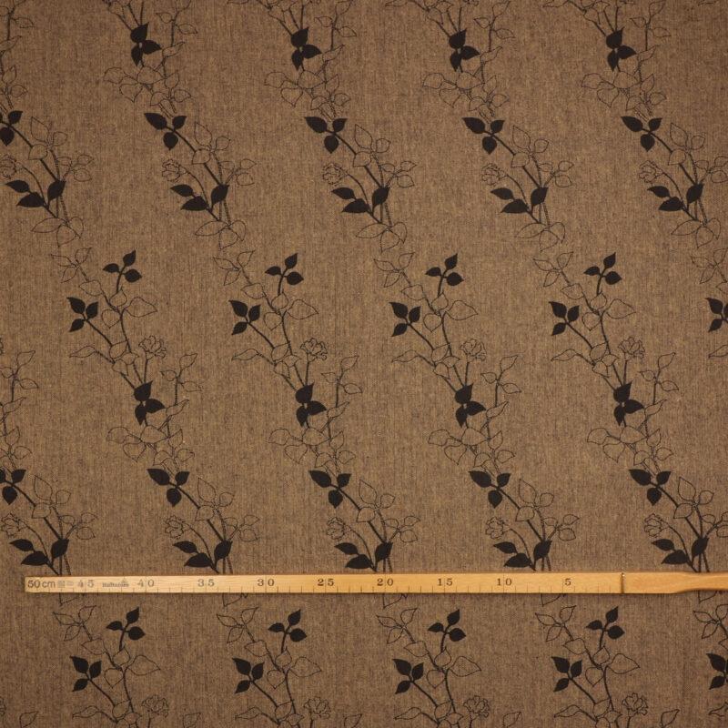 Bladmønster på brun/sort bundfarve - Info mangler